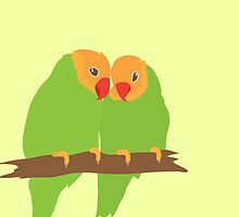 Pretty peachfaced lovebirds by jazzydevil