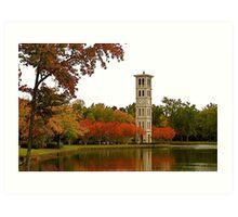 The Bell Tower on Swan Lake Art Print