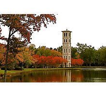 The Bell Tower on Swan Lake Photographic Print