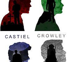 Sam & Dean & Cas & Crowley by Agnitti