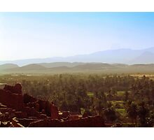 Beautiful Algeria - Warmth Radiated Across the Oasis Photographic Print
