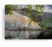 Rocks Attending the River Canvas Print