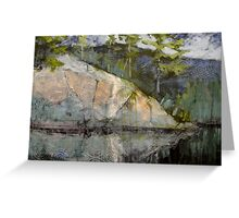 Rocks Attending the River Greeting Card