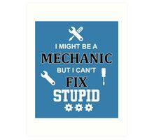 i might be a mechanic but i can't fix stupid Art Print