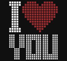 Love You  - Pixels Kids Clothes