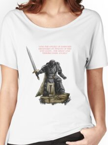 Angel of Darkness - Quote & Full Colour Women's Relaxed Fit T-Shirt