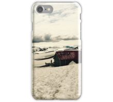 Mountain hut in Iceland iPhone Case/Skin