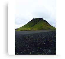 Hiking in iceland Canvas Print