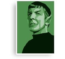 First Officer Spock stylized in green Star Trek tos Canvas Print