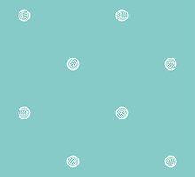 Blue Polka Dots of Yarn by Alex Broadbent