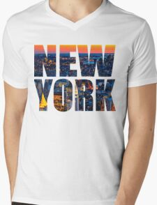 new york shirt Mens V-Neck T-Shirt