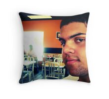 random portrait Throw Pillow