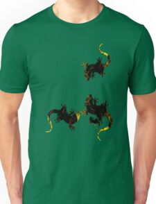3 Geckos with Cool Grungy Textures Unisex T-Shirt
