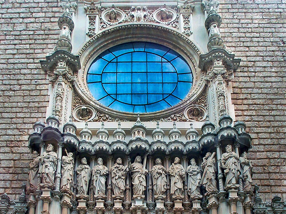 Blue Window ~ Montserrat Monastery by Lucinda Walter