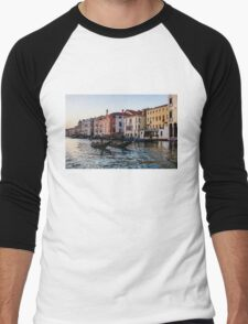 Impressions of Venice - Glossy Water Gondolas on the Grand Canal T-Shirt
