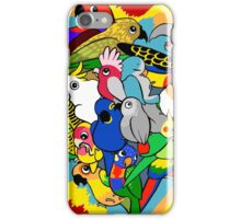 I heart parrots cute cartoon iPhone Case/Skin