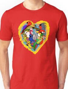 I heart parrots cute cartoon Unisex T-Shirt