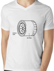 Motorcycle Oil Filter...T-shirt etc... Mens V-Neck T-Shirt