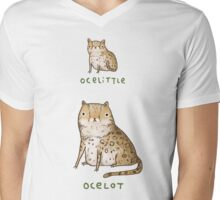 Ocelittle Ocelot Mens V-Neck T-Shirt