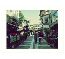 Walking in Beylerbeyi... Art Print