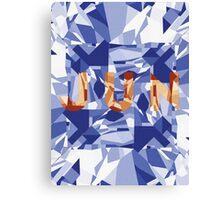 JUN crystal font Canvas Print