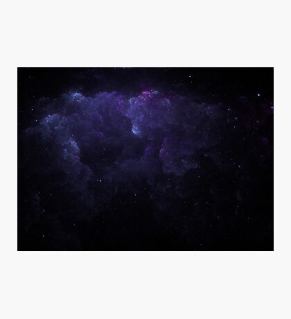 Purple Clouds and Stars Photographic Print