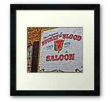 Bucket Of Blood Saloon Framed Print