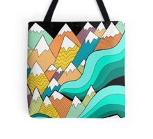 Waves of the mountains Tote Bag