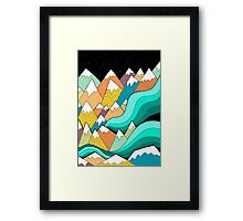 Waves of the mountains Framed Print