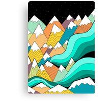 Waves of the mountains Canvas Print