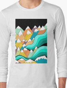 Waves of the mountains Long Sleeve T-Shirt