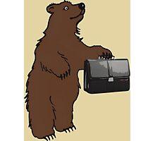 Business Bear Photographic Print