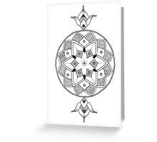 Mandala Long Greeting Card