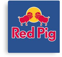 Red Pig Canvas Print