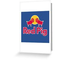 Red Pig Greeting Card