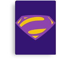 Man Of Steel Bizarro Purple Logo Canvas Print