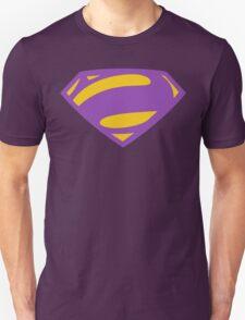 Man Of Steel Bizarro Purple Logo Unisex T-Shirt