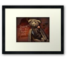 dear friends are like antiques Framed Print