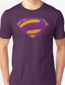 Man Of Steel Bizarro Purple Textured Logo T-Shirt