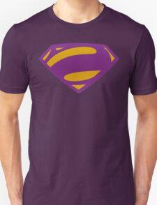 Man Of Steel Bizarro Purple Textured Logo Unisex T-Shirt