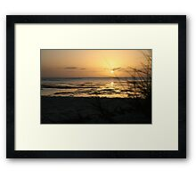 Sunrise at Monkey Mia Framed Print