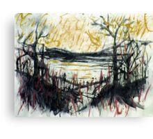 rhine views... rainy day blues Canvas Print