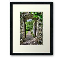 Where Monks once passed. Framed Print
