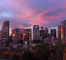 Autumn Sunrise at Calgary by Michael Collier