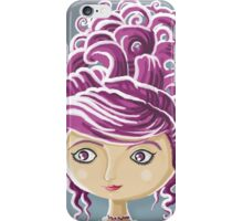 royal purple hairstyle iPhone Case/Skin