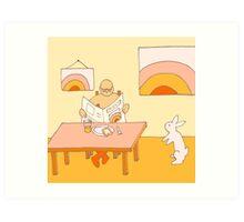 Apricot Breakfast - from my original series, Apricot World Art Print