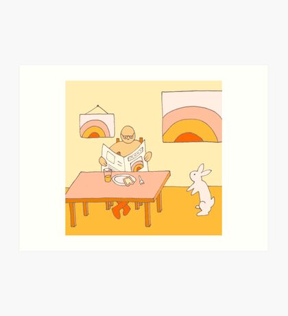 Apricot Breakfast - from my original series, Apricot World Art Print