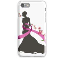 Pink Ribbon with Pohutukawa iPhone Case/Skin