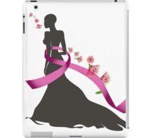 Pink Ribbon with Pohutukawa iPad Case/Skin