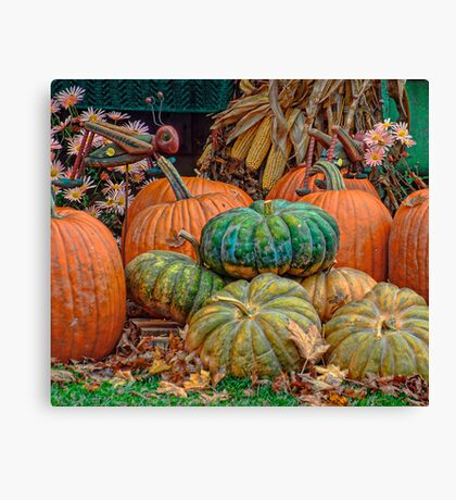 Pumpkin Stand Canvas Print